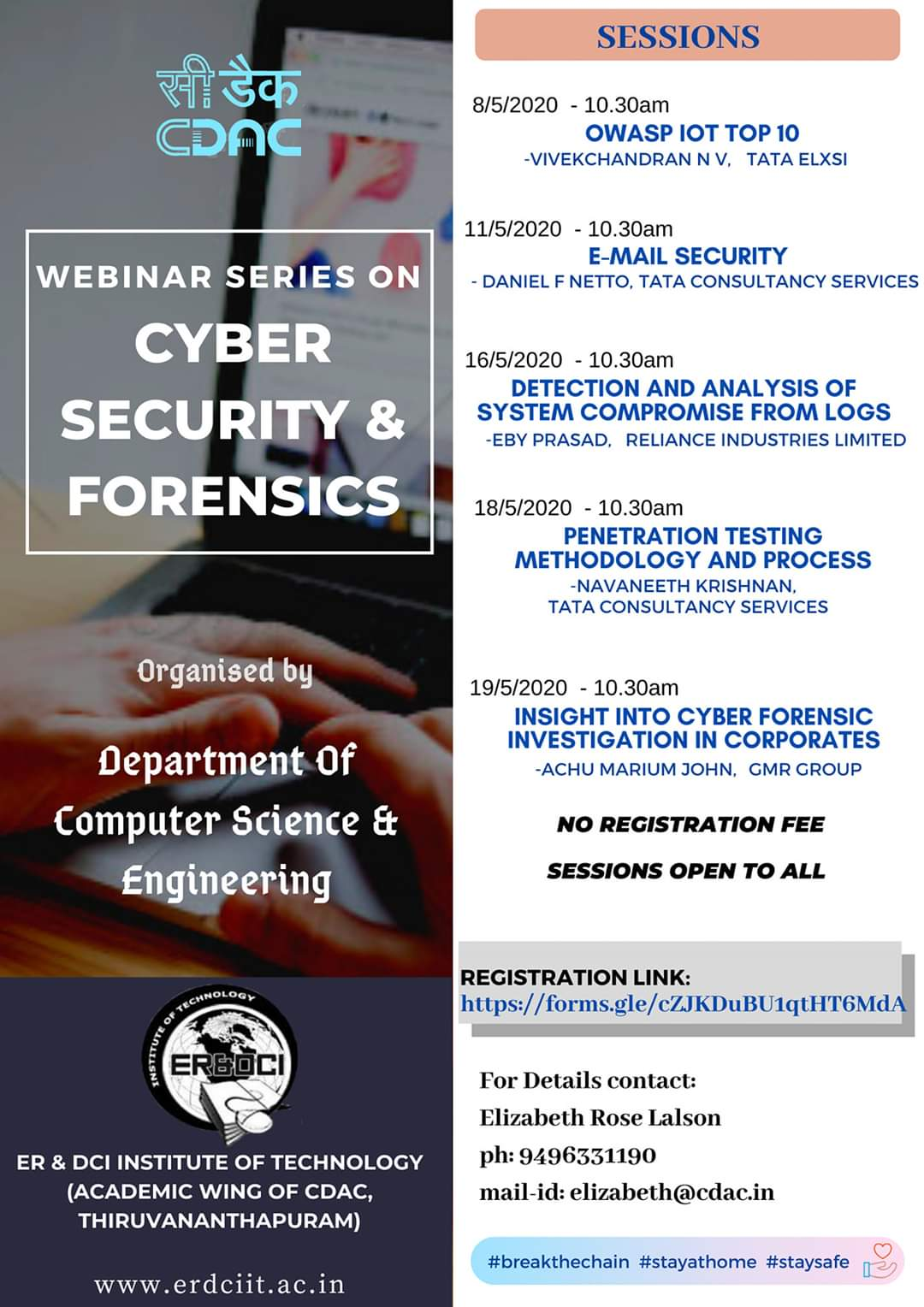 Webinar series on Cyber Security and Forensics