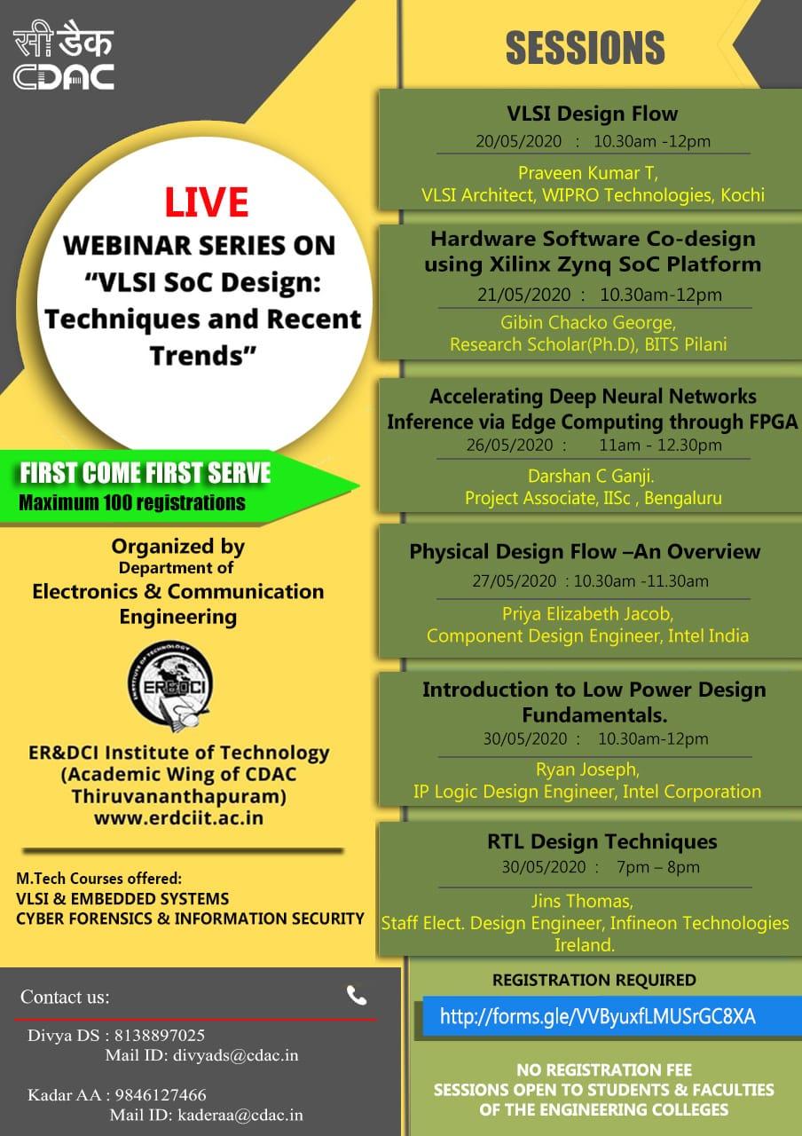 Live webinar series on VLSI SoC Design